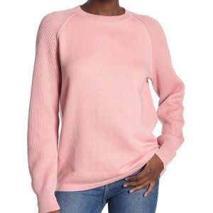 NWT vince. Cotton Sweater in Dusty Rose